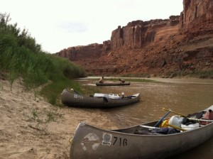 Canoes on the Green River